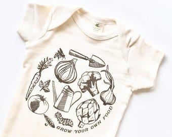 Grow Your Own Food Organic Cotton Bodysuit