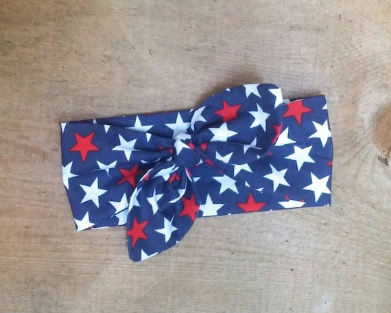 Red White Blue Stars Baby Headband