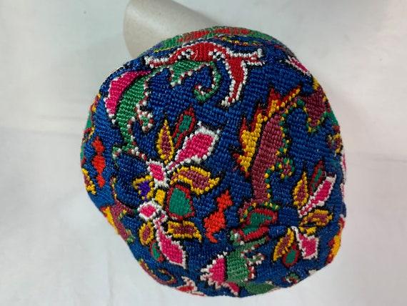 Embroidered Uzbekistan man's skull cap
