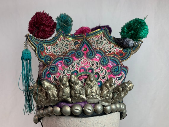 Antique Chinese embroidered child's  hat