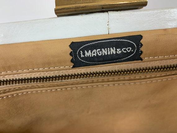 I. Magnin mid century patchwork purse - image 3