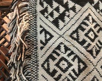 Mapuche Araucano 1960's small rug from Chile
