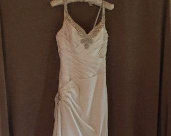 Designer wedding dress size small