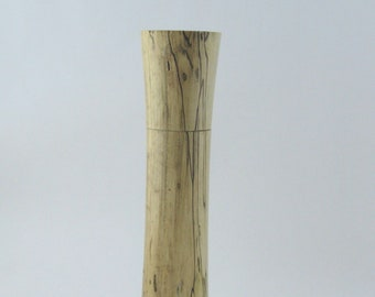 Spices and peppermill grinder in spalted Maple , Elegant style  10,875 in. X 2,375 Diam. item no: 976