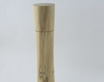 Spices and peppermill grinder in spalted Maple , Elegant style  11,75 in. X 2,375 Diam. item no: 975