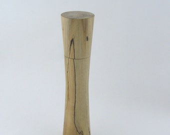 Spices and peppermill grinder in spalted Maple , Elegant style  10,875 in. X 2,375 Diam. item no: 977