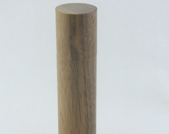Spices and peppermill grinder in Walnut , Cylinder style  9 in. X 2,25 Diam. item no: 1019