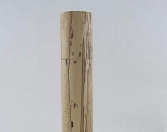 Spices and peppermill grinder in spalted Maple ,Cylinder  style with rod mechanisme  12 1/4 in article no: 702