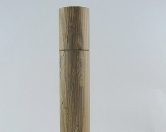 Spices and pepper mill grinder in spalted Ash , Cylinder style with rod mechanisme  13 in article no: 700