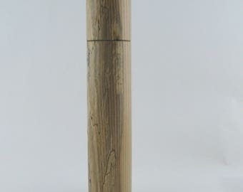 Spices and peppermill grinder in spalted Ash , Cylinder style with rod mechanisme  13 in article no: 700