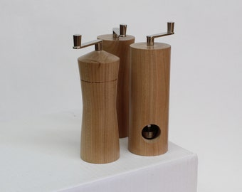 Nutmeg grinder made from Cherry