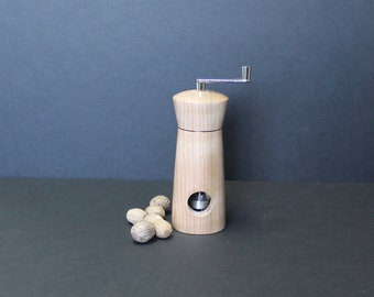 Nutmeg grinder made from cherry tree item no: MMUSC-9