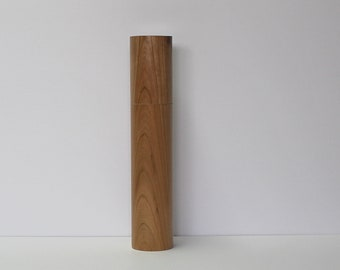 Spices and pepper mill in Cherry , Cylinder style with rod mecanisme / 12,25 in X 2,375 Diam article no: 1032