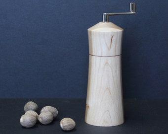 Nutmeg grinder made from Black Ash burl item no: MMUSC-2