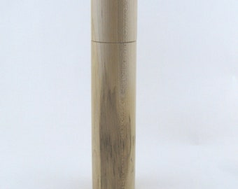 Spices and peppermill grinder in spalted Maple , Cylinder  style  11,625 in. X 2,5 Diam. item no: 956