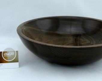 Fruit bowl or service made from Walnut apprx. 10 in. x 2 1/2 in. item number: 57
