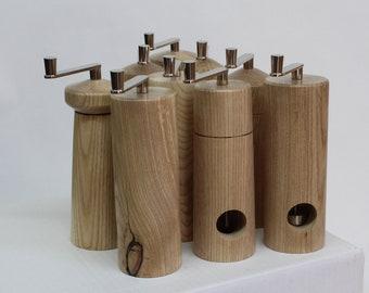 Nutmeg grinder made from ash wood