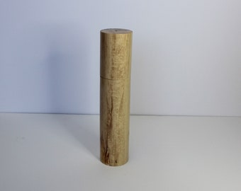 Artisanal pepper mill, wooden salt and pepper mill, handcrafted grinder, Handmade Quebec spice mill, salt and peppermill grinder.