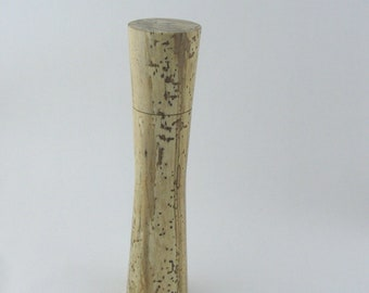 Spices and peppermill grinder in spalted Maple, Elegant style with rod mechanisme  10,75 inch X 2 375 D, article no: 982