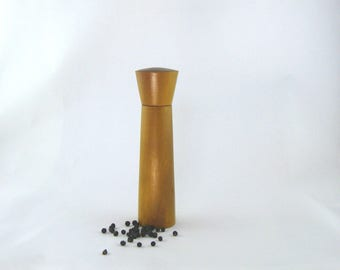 Spices and pepper mill in Osange Orange,hourglass style with rod mécanisme / 9 in