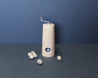 Nutmeg grinder made from Pear tree item no: MMUSC-5