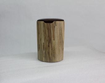 Cylinder  Box , hand made, hand turned