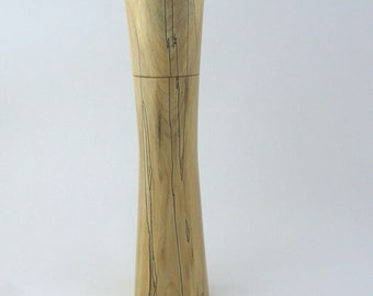 Spices and peppermill grinder in spalted Maple , Elegant style  9,875 in. X 2,375 Diam. item no: 988