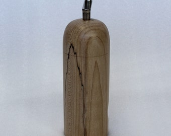 Wooden nutmeg mill. Easily grate fresh whole nutmeg without risk to fingers