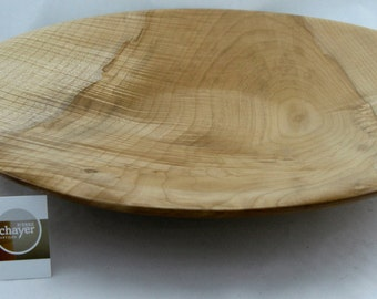 Fruit plate or service made from Big leafe Maple apprx. 18 1/2 in. x 2 1/4 in. item number: 50