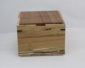 Wooden storage box, empty pocket, wooden box, handcrafted