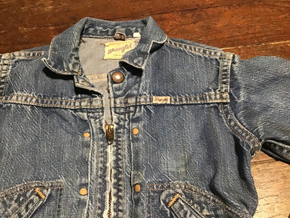 "50s Kid's Wrangler Western jacket 24"" chest - image 9"