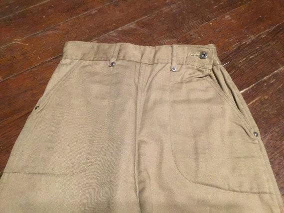 """Unused 50s women's Side Zip Jeans 24""""W x 24""""L - image 6"""