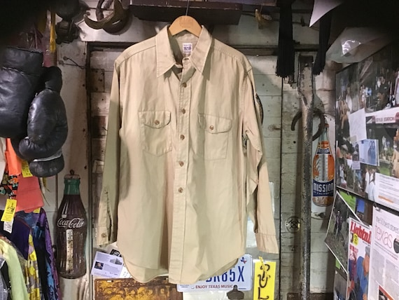 "40s Sweet Orr Khaki Shirt sz 42"" in NM Cond."