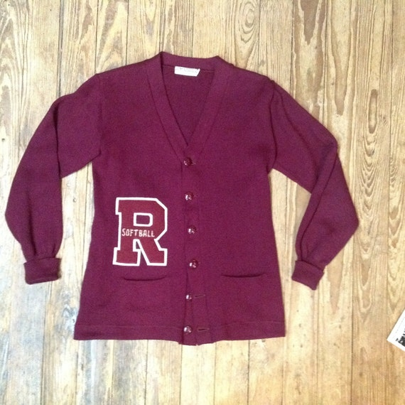1950s Varsity Letter Sweater sz 36 in VG+ Cond.