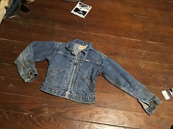 "50s Kid's Wrangler Western jacket 24"" chest - image 10"