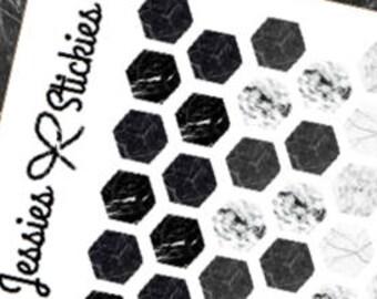 Marble Hexagon stickers