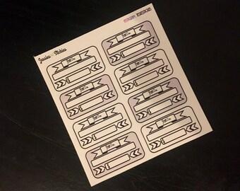 Bill due stickers bill due blank stickers