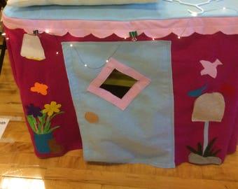 Cute card table playhouse