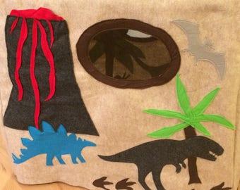 Dinosaur card table playhouse