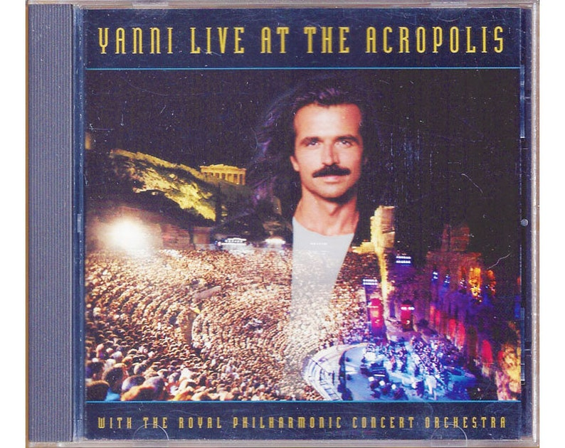 Yanni Live at the Acropolis with The Royal Philharmonic Concert Orchestra  CD 1994 Club Edition New Age Classical Music