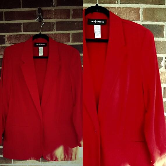 80s/90s Oversized Red Blazer, 14