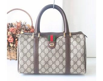 e2dacbf88 GUCCI Sherry Line GG Web Boston tote handbag