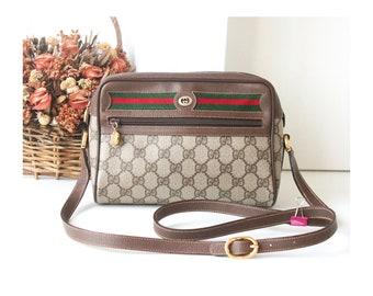 965659781 Auth GUCCI Sherry Line GG Web Monogram Shoulder Bag vintage