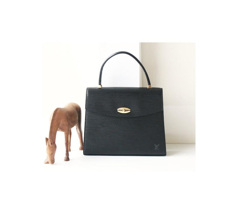 45d6ff225ae8 Louis Vuitton Epi Black Malesherbes Kelly handbag Authentic