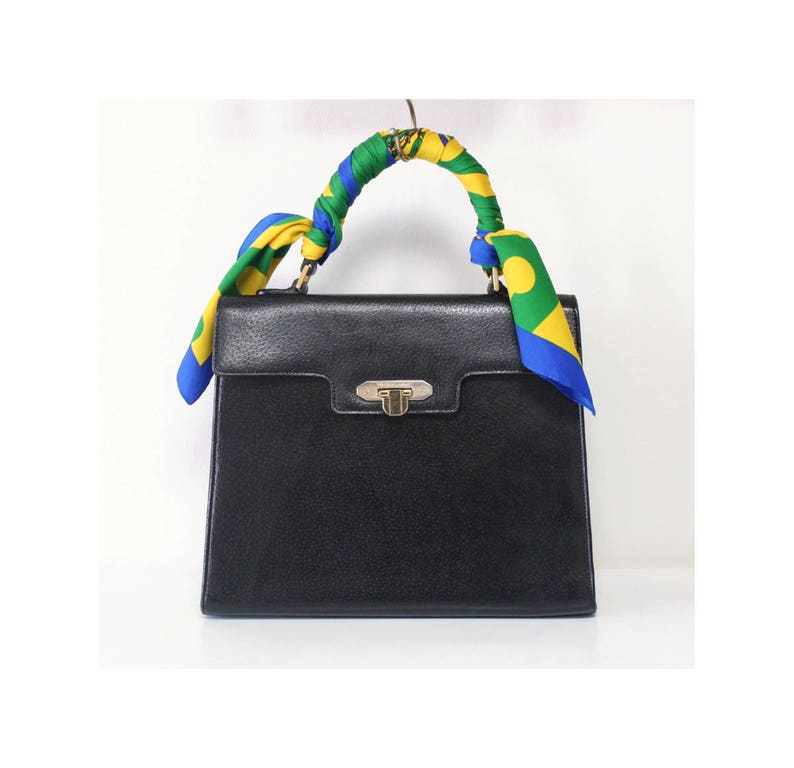 b5f830c92c14 Valentino Garavani Bag Black Kelly Tote handbag authentic