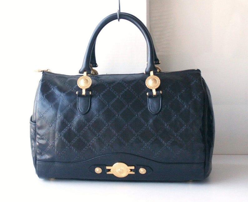 ffe8d7333ab Versace bag sun burst boston bag vintage authentic handbag