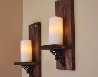 Candle Wall Sconces Etsy