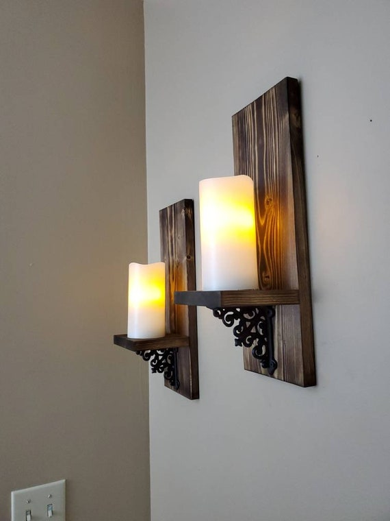 Rustic Wall Decor Wall Candle Holders Wall Sconces Wall Light Wall Hangings Rustic Candle Sconce Wood Wall Decor Gifts For Her