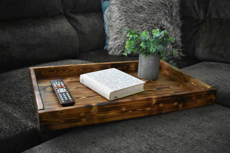 Rustic Coffee Table New Home Gift Ottoman Tray Tray With Etsy