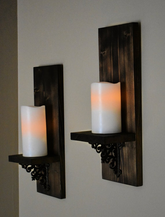 Rustic Wall Decor Home Decor Rustic Wall Sconce Wall Etsy